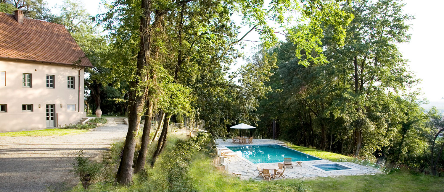 Hidden amongst lush greenery, Casolare makes for a romantic getaway